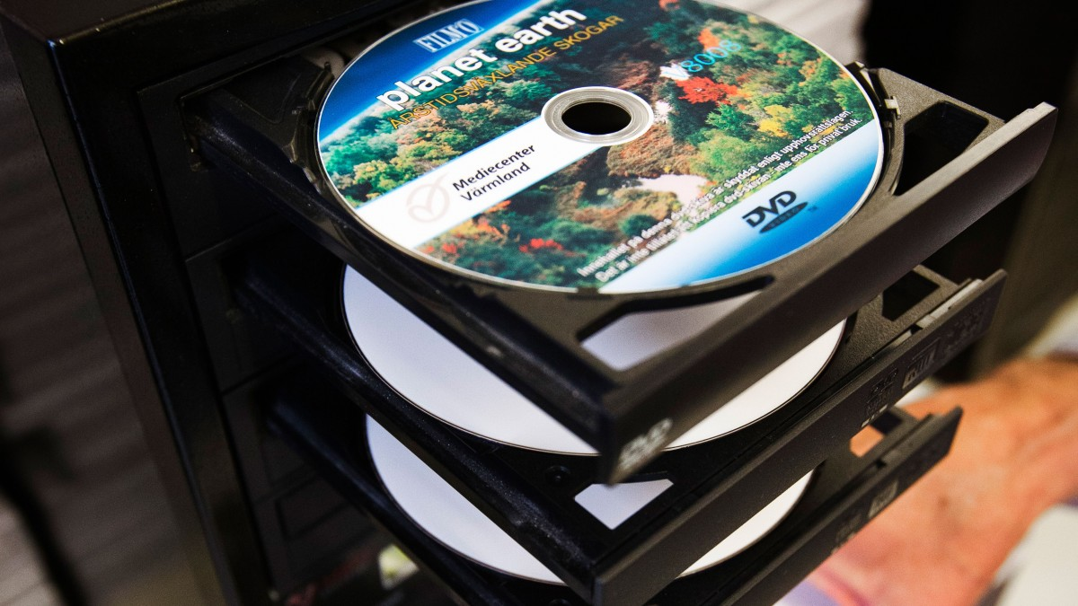 Dvd-skivor i dator